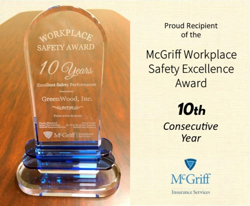 GreenWood, Inc. Earns McGriff Workplace Safety Excellence Award